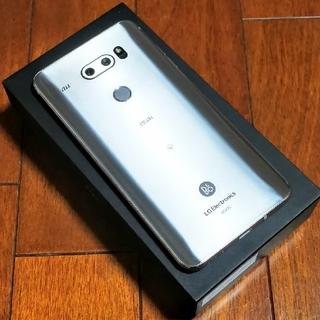 エルジーエレクトロニクス(LG Electronics)の【美品】isai V30+ LG V35 シルバー(スマートフォン本体)