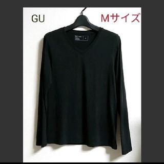 ジーユー(GU)のGU   メンズMサイズ Vネック 長袖カットソー(Tシャツ/カットソー(七分/長袖))