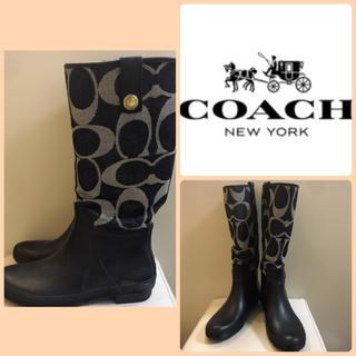 コーチ(COACH)のコーチ♡シグネチャーデニム レインブーツ♡(レインブーツ/長靴)