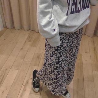 アナザーエディション(ANOTHER EDITION)のフラワープリントスカート 花柄 ロングスカート(ロングスカート)