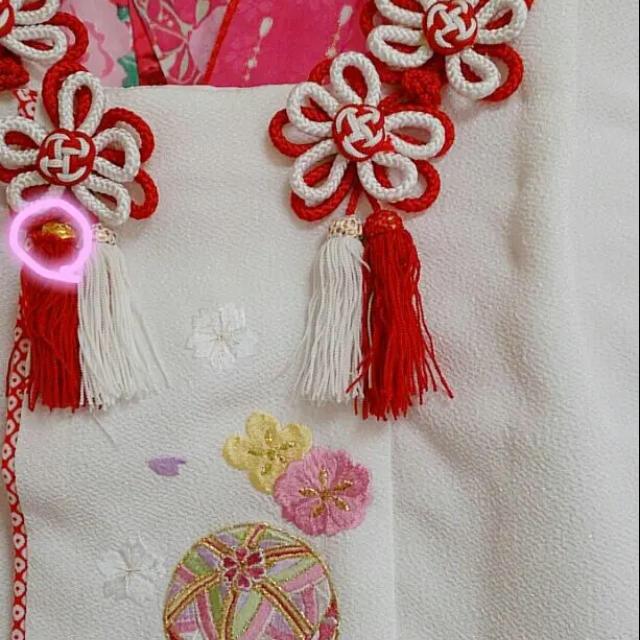 七五三 着物 3歳 被布セット キッズ/ベビー/マタニティのキッズ服 女の子用(90cm~)(和服/着物)の商品写真