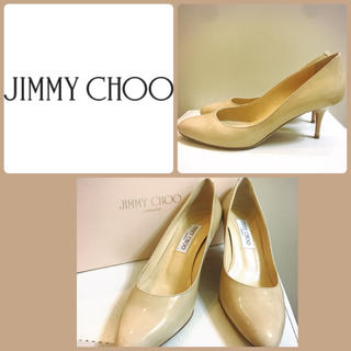 ジミーチュウ(JIMMY CHOO)のジミーチュウ♡ベージュパテント ローヒール パンプス♡(ハイヒール/パンプス)