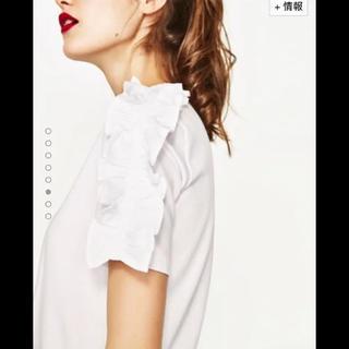 ザラ(ZARA)のZARA フリルスリーブTシャツ(Tシャツ(半袖/袖なし))