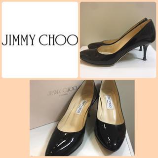 ジミーチュウ(JIMMY CHOO)のジミーチュウ♡ブラックパテント ローヒール パンプス♡(ハイヒール/パンプス)