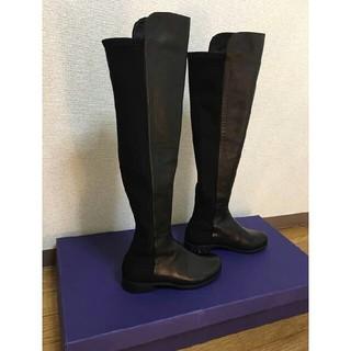 スチュワートワイツマン(Stuart Weitzman)のスチュアートワイツマンSTUART WEITZMAN 5050 黒 ブーツ(ブーツ)