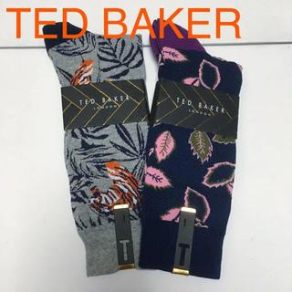 テッドベイカー(TED BAKER)の新品 2足組 テッドベイカー ソックス 靴下 柄ソックス ボタニカル(ソックス)