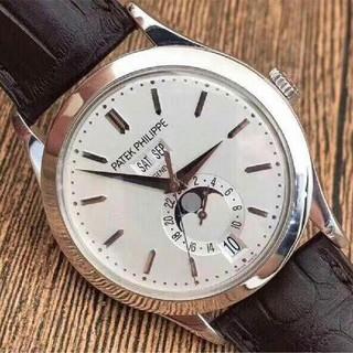 パテックフィリップ(PATEK PHILIPPE)のパテック フィリップホワイト文字盤 メンズ 腕時計 (腕時計(アナログ))