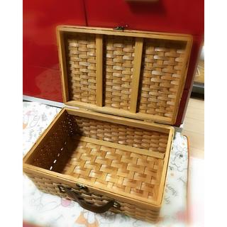 おかき様専用 カゴ トランク 美品(バスケット/かご)