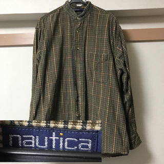 ノーティカ(NAUTICA)のNAUTICA ノーティカ ネルシャツ ノーカラー ノーカラーシャツ チェック(シャツ)