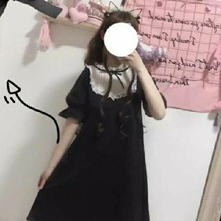 ❤️可愛い❤️ロリータワンピース黒アンクルージュ ハニーシナモン