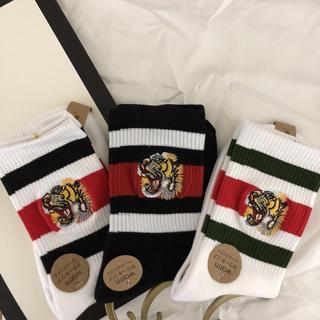 タイガー 刺繍 ソックス 全3色 ケンゾー好きに (ソックス)