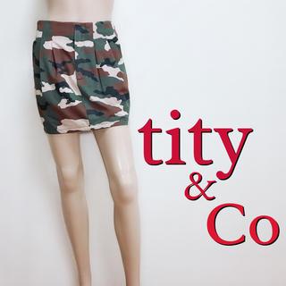 ティティアンドコー(titty&co)の必需品♪ティティアンドコー カモフラ カジュアルスカート♡トミー マウジー(ミニスカート)