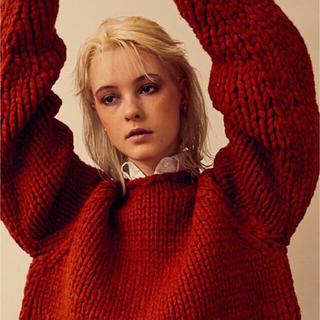 サンシー(SUNSEA)のyoke gradation gauge hand knit(ニット/セーター)