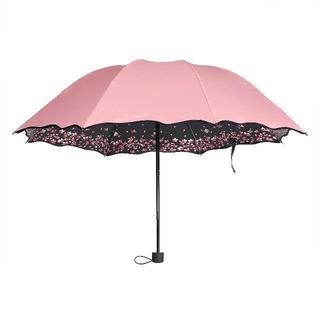 【ラスト1つ!】折り畳み傘桜の花びら携帯便利晴雨兼用紫外線防ぐ太陽傘(傘)