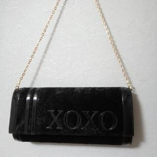 キスキス(XOXO)の【未使用品】チェーンバッグ 黒 クラッチバッグ xoxo ハンドバッグ(ハンドバッグ)
