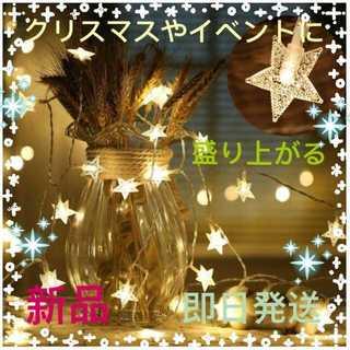 【値上がりする前に☆】イルミネーションライト 星型  (6m、40球)(蛍光灯/電球)