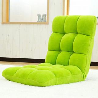 激安商品★人気No.1★超ふわふわ!座椅子!リクライニング グリーン(座椅子)