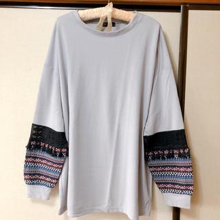 シマムラ(しまむら)の大きいサイズ 袖がかわいいトップス(トレーナー/スウェット)