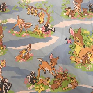 ディズニー(Disney)の特大サイズ バンビ  ディズニー  フラットシーツ 生地87(生地/糸)