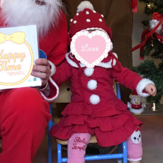シャーリーテンプル サンタクロース クリスマス ワンピース 80 帽子 セット