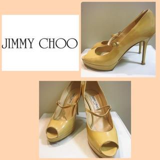 ジミーチュウ(JIMMY CHOO)のジミーチュウ♡ベージュエナメル オープントゥ パンプス♡(ハイヒール/パンプス)