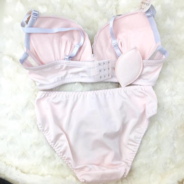 【新品】Eカップ☆ピンクベール ブラショーセット♡大きいサイズ E80LL レディースの下着/アンダーウェア(ブラ&ショーツセット)の商品写真