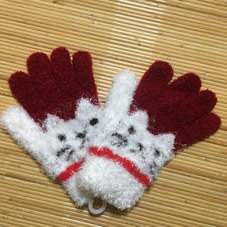 キッズ 手袋 赤白(手袋)