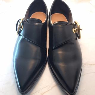 ザラ(ZARA)のzara ザラ 革靴 サイズ36 黒 着用一度のみ 美品(ローファー/革靴)