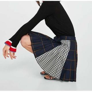 安室奈美恵 ファイナルライブ リメイク チェック柄 スカート S(ミニスカート)