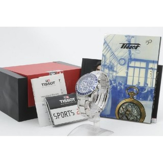 ティソ(TISSOT)の⭐極美品⭐ティソサファイアガラズ超格好いいメンズ腕時計⭐100M防水スイス製⭐(腕時計(アナログ))