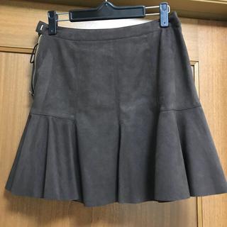 アンレクレ(en recre)のスエードスカート マーメイドスカート (ミニスカート)