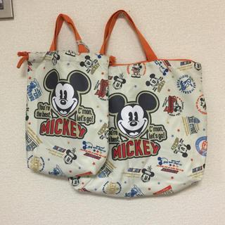 ディズニー(Disney)のMickey★レッスンバッグ&シューズケース 定価2200円(通園バッグ)