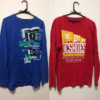 ディーシー(DC)のDC 長袖 Tシャツ 2枚入り 赤青(Tシャツ/カットソー(七分/長袖))