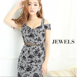 ジュエルズ(JEWELS)の美品グレンチェック花柄キャバドレス(ナイトドレス)