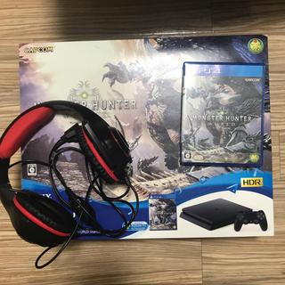PlayStation4 - PS4 本体 モンスターハンターワールド スターターパック 黒