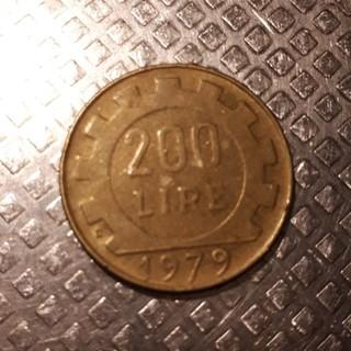 イタリア 旧硬貨 200リラ(貨幣)