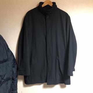 [古着屋購入]変形コート ハイネック 黒 XXXLサイズ (チェスターコート)