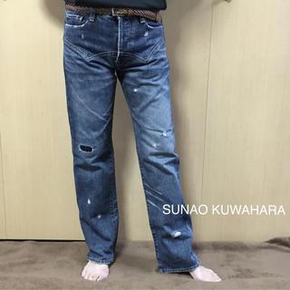 スナオクワハラ(sunaokuwahara)のSUNAO KUWAHARA デザインが素敵なリペア&ダメージデニム(デニム/ジーンズ)