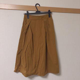 ジーユー(GU)のロングスカート フレアスカート ベージュ 黄色(ロングスカート)