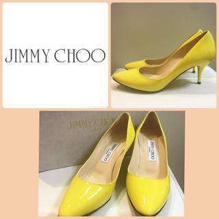 ジミーチュウ(JIMMY CHOO)のジミーチュウ♡イエローエナメル パンプス♡(ハイヒール/パンプス)
