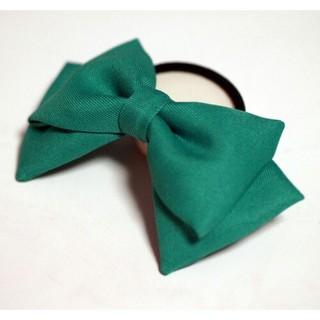 緑色リボン ヘアゴム 髪飾り コスプレ衣装小物 ハンドメイド グリーン(ヘアゴム/シュシュ)