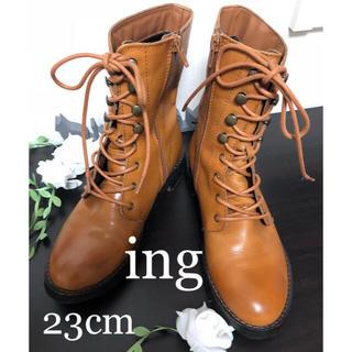イング(ing)のing 革 レースアップブーツ 23cm(ブーツ)