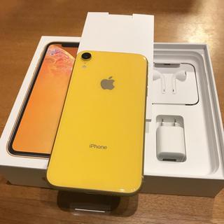 アイフォーン(iPhone)のiPhoneXR 64GB イエロー ドコモSIMフリー済み(スマートフォン本体)