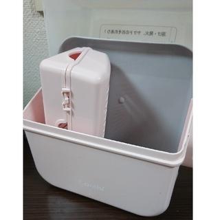 コンビ(combi)の除菌じょーずα (パウダーピンク)(哺乳ビン用消毒/衛生ケース)