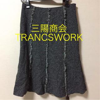 トランスワーク(TRANS WORK)の三陽商会 トランスワーク ツイードスカート(ひざ丈スカート)