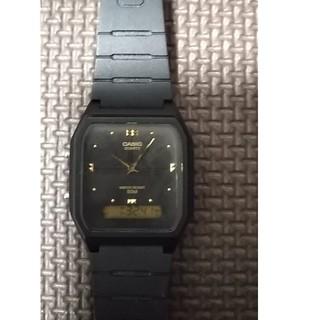 カシオ(CASIO)のCASIO アナログ&デジタル ブラックフェイス(腕時計(アナログ))