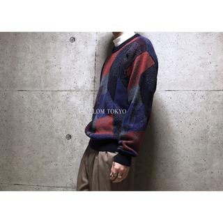[used]'個性的' art design wool mix knit.(ニット/セーター)