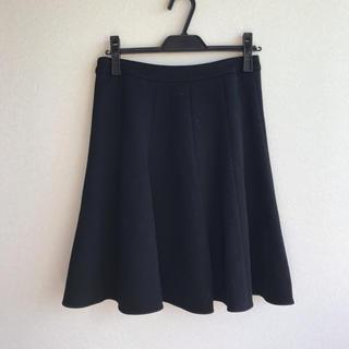 エムプルミエ(M-premier)のエムプルミエ m's select ポンチ素材 フレアスカート(ひざ丈スカート)