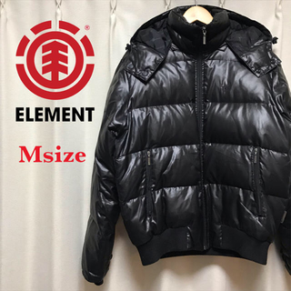 エレメント(ELEMENT)の【美品】ELEMENT/フード付きダウンジャケット Msize(ダウンジャケット)