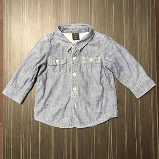 ベビーギャップ(babyGAP)のbaby GAP デニムシャツ 80(シャツ/カットソー)